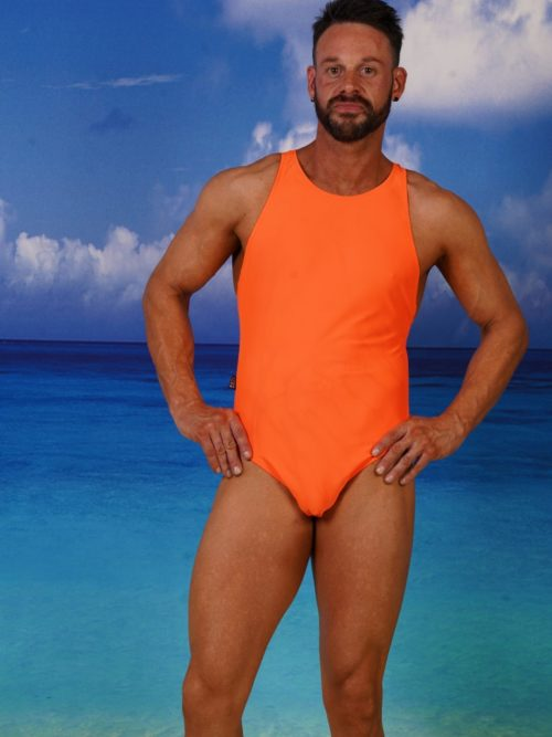 Action back Medium Leg Male Swimsuit